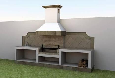 Resultado de imagen para jardin con asador de carne