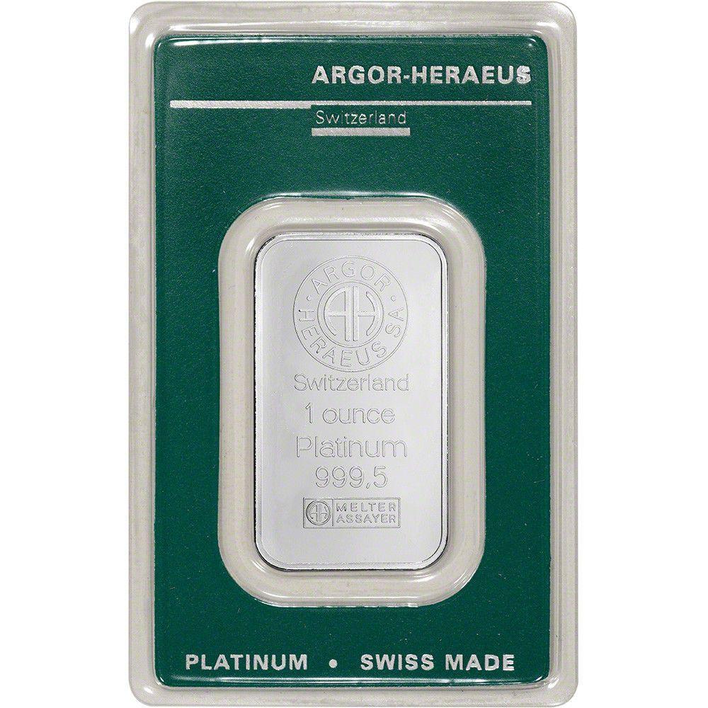 Details About 1 Oz Platinum Bar Argor Heraeus 999 5 Fine In Assay Platinum Precious Metals Gold