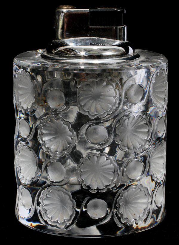 071313 Lalique Tokio Table Lighter H 4 Dia 2 7 8 Jul 21 2012 Dumouchelles In Mi Lalique Lalique Crystal Light Table