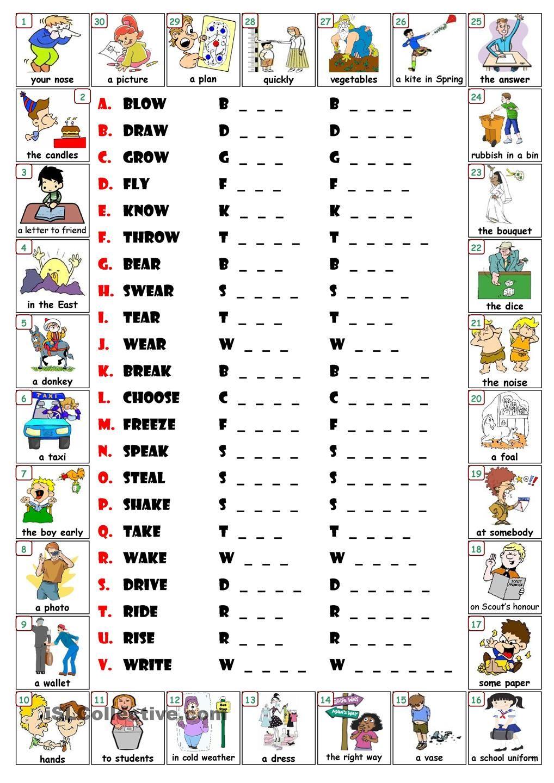 Irregular Verbs 1 School Pinterest Irregular Verbs