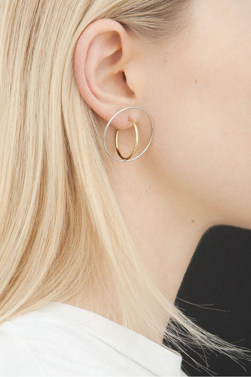 Saturn large earrings Charlotte Chesnais 9ULGTG