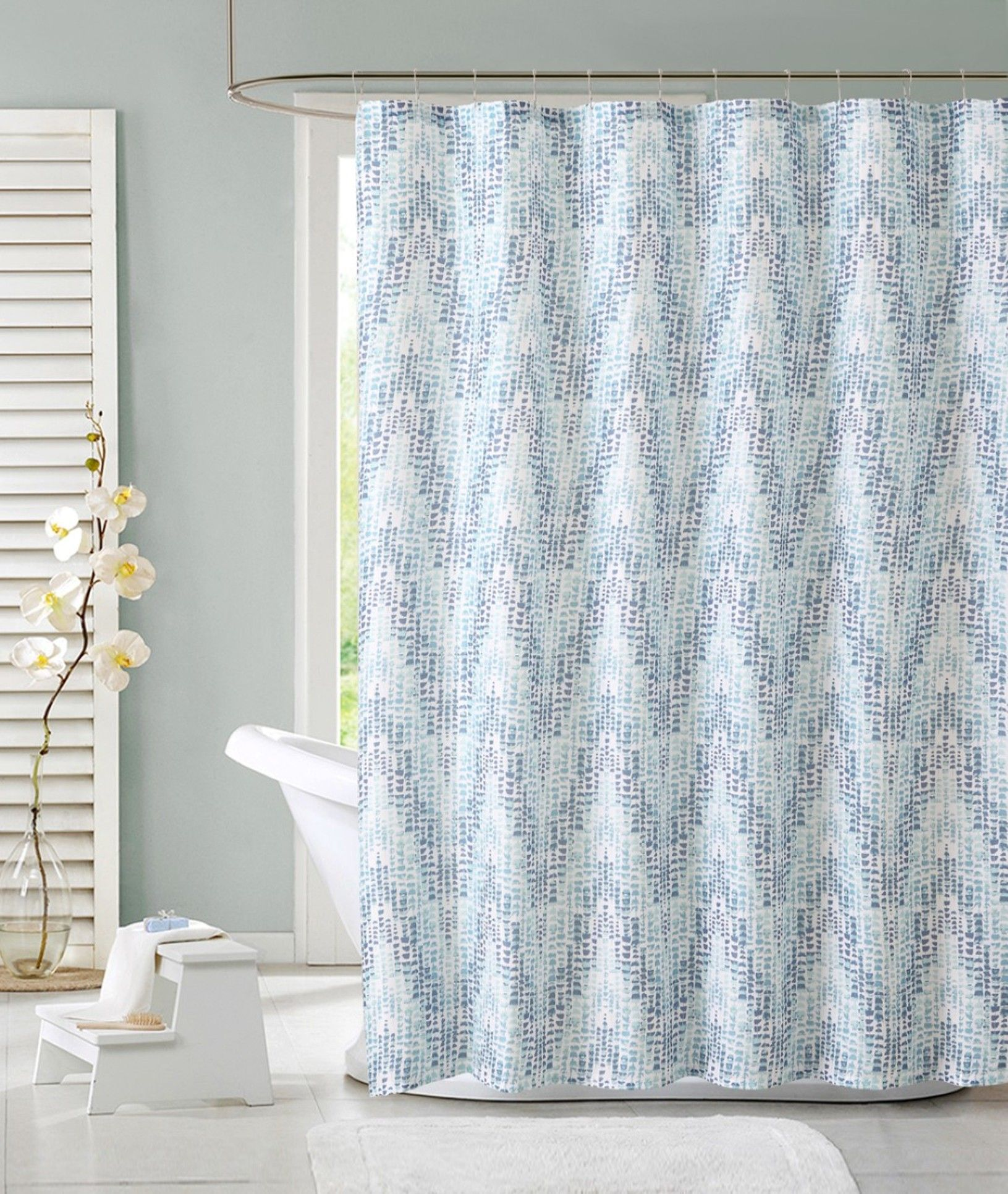 Colormate Zoey Shower Curtain Blue Curtains Decor Bathroom