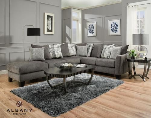 Clearance Albany Tremont Slate Sectional Sofa En 2019