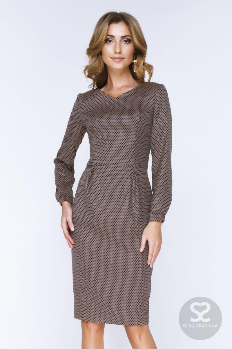 9745f553bc8 Офисный стиль одежды. Платье из костюмной ткани в интернет-магазине ...