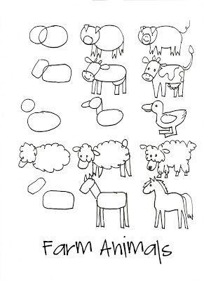 Step By Step Farm Animals Artistic Pinterest Animal