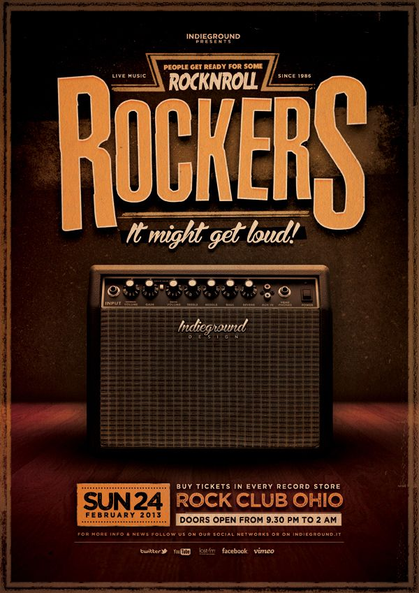 Rock Poster Vol  By Roberto Perrino Via Behance  Design