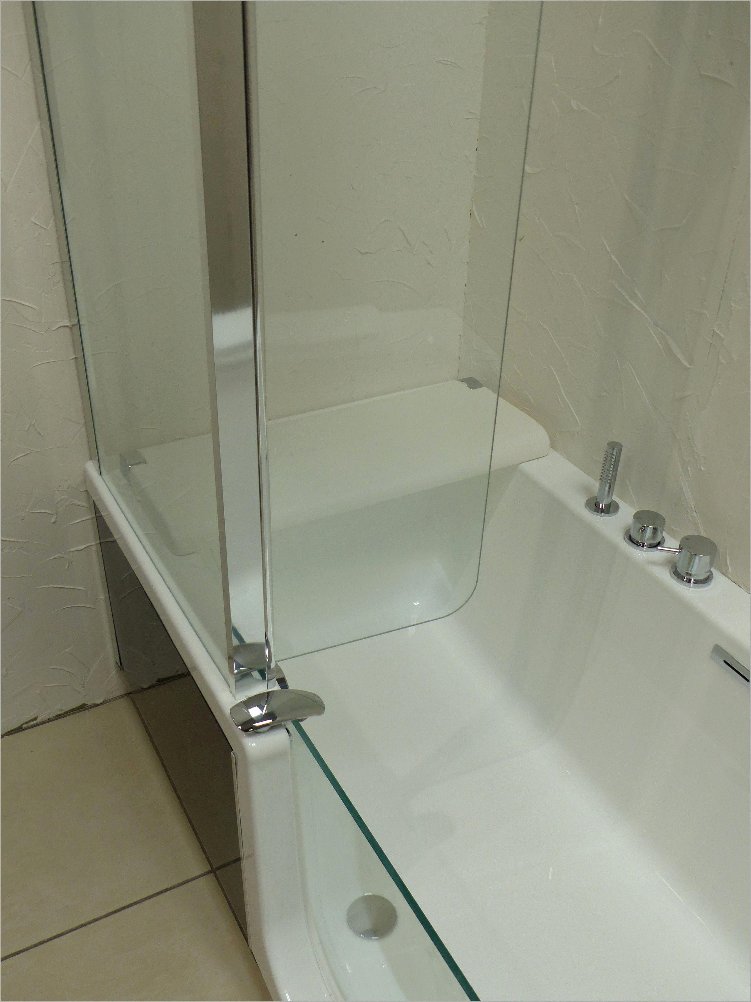 pare baignoire sous pente