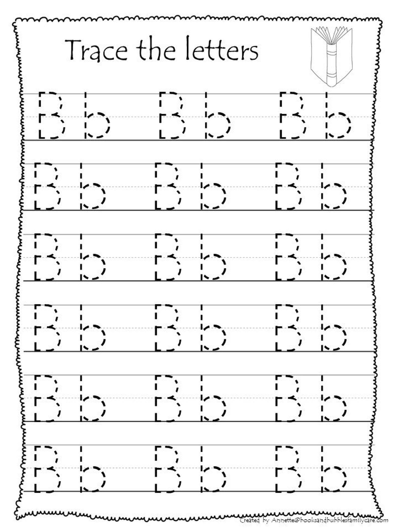26 Printable Trace The Alphabet Worksheets Preschool Kdg
