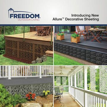 Allure Designer Sheeting Now Available At Lowes Com Backyard Swing Sets Railings Outdoor Decks And Porches