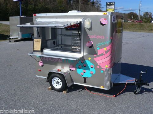 cupcake tree 5x8 mobile food truck trailer turnkey concession biz for sale ebay for lolo. Black Bedroom Furniture Sets. Home Design Ideas
