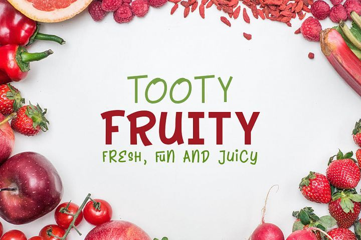 Tooty Fruity Font Duo Free Font Of The Week Free Script