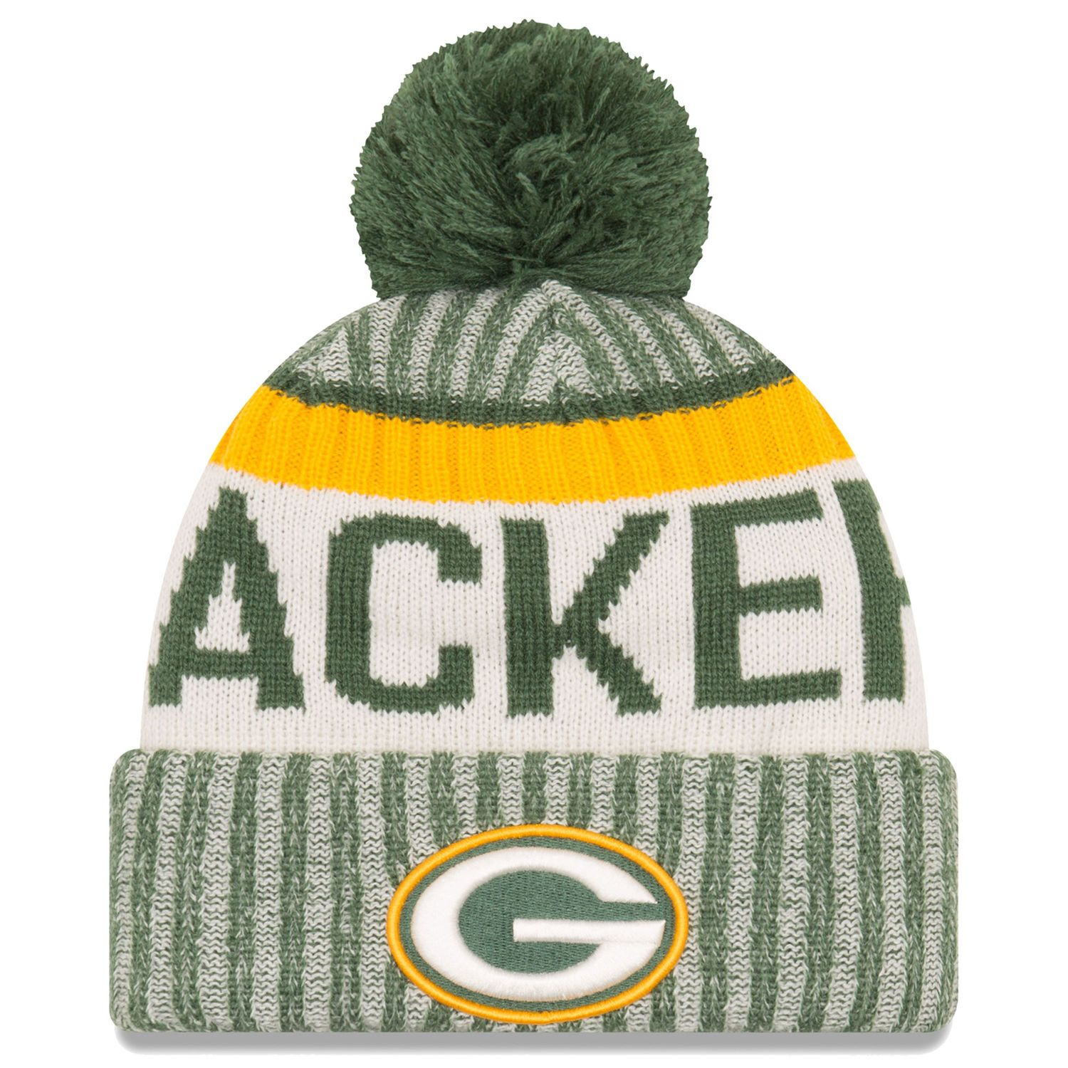 3ece050d93e ... wholesale mens green bay packers new era green 2017 sideline official sport  knit hat d7b77 28f1b ...