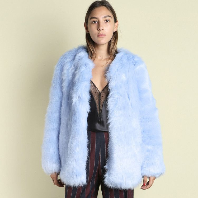 Baby Blue Faux Fur Coat Blue Faux Fur Coat Fur Coat Faux Fur Coat