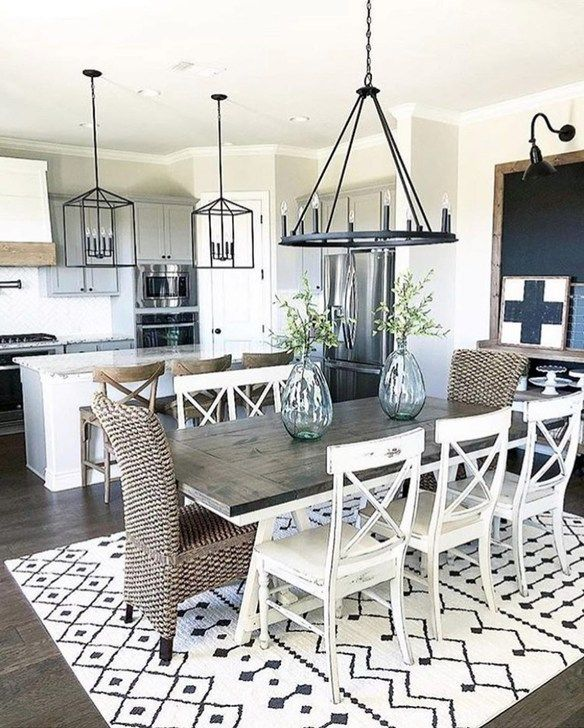 Comfy Moroccan Dining Room Design You Should Try 56 Farmhouse Dining Room Farmhouse Dining Room Table Farmhouse Dining