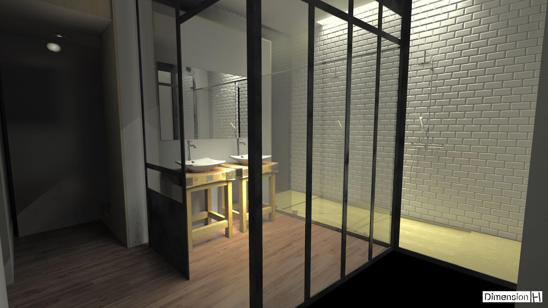 salle de bains atypique bac douche en silestone tigris sand salle de bains pinterest. Black Bedroom Furniture Sets. Home Design Ideas