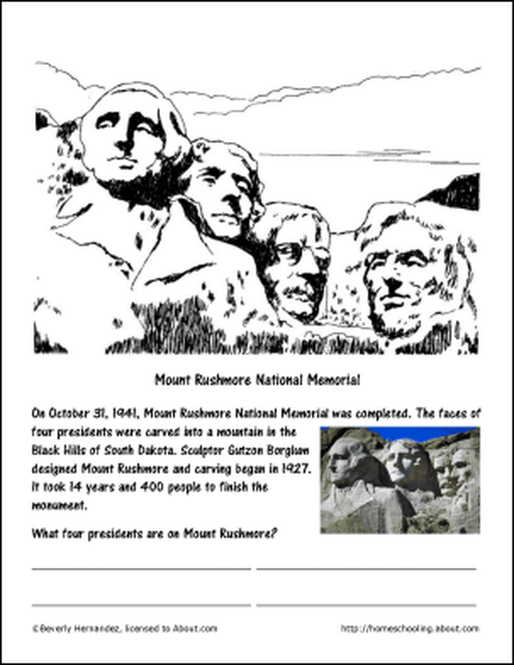 Free Printables Featuring Famous Firsts In October Mount Rushmore Activities Homeschool Field Trips American Symbols