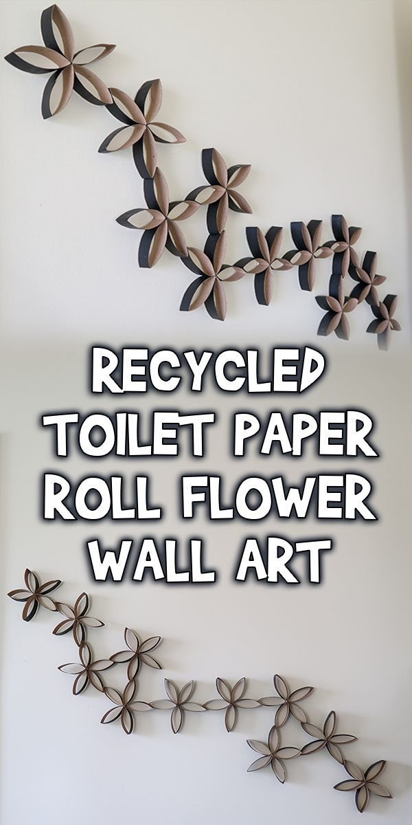 Recycled Toilet Paper Roll Flower Wall Art | Woo! Jr. Kids Activities