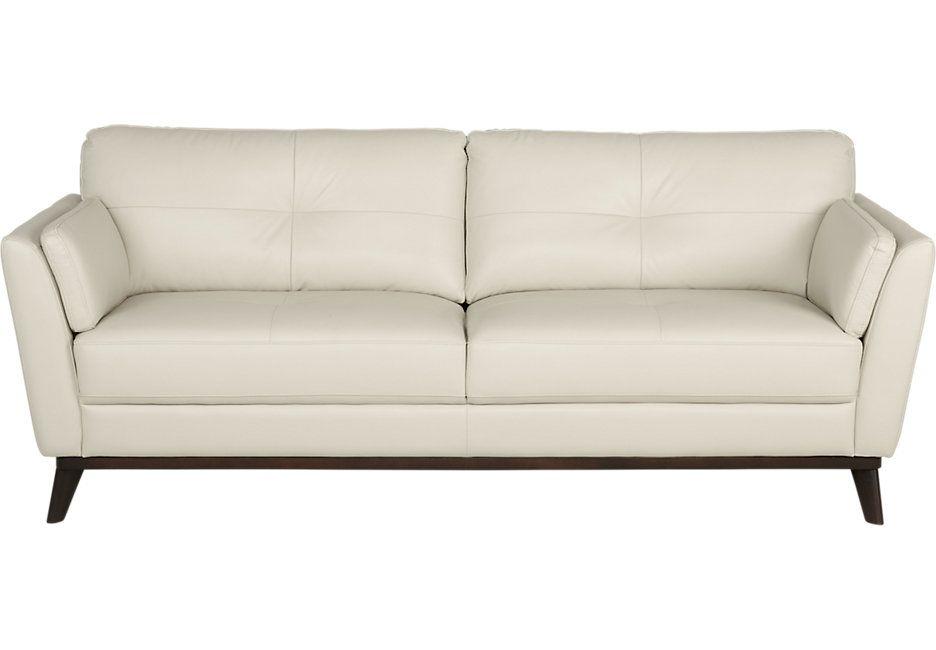 Sofia Vergara Gabriele Buff Leather Sofa 899 99 87w X 38d 36h Find