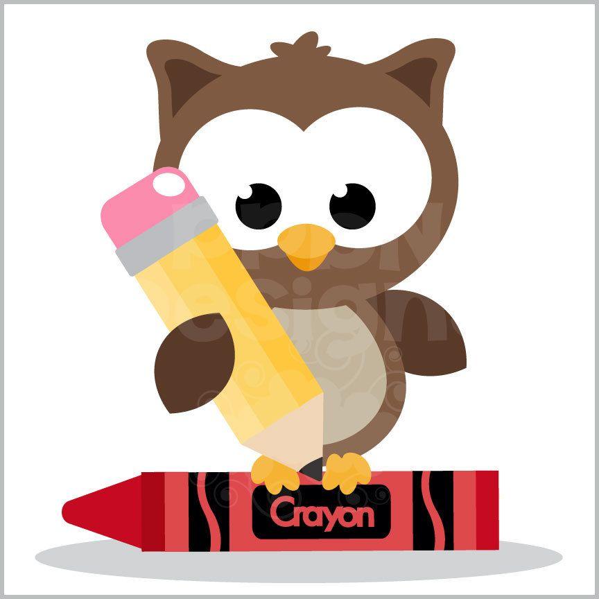 School Owl (Free for Deluxe Members) | Owl clip art, Bird ... (864 x 864 Pixel)