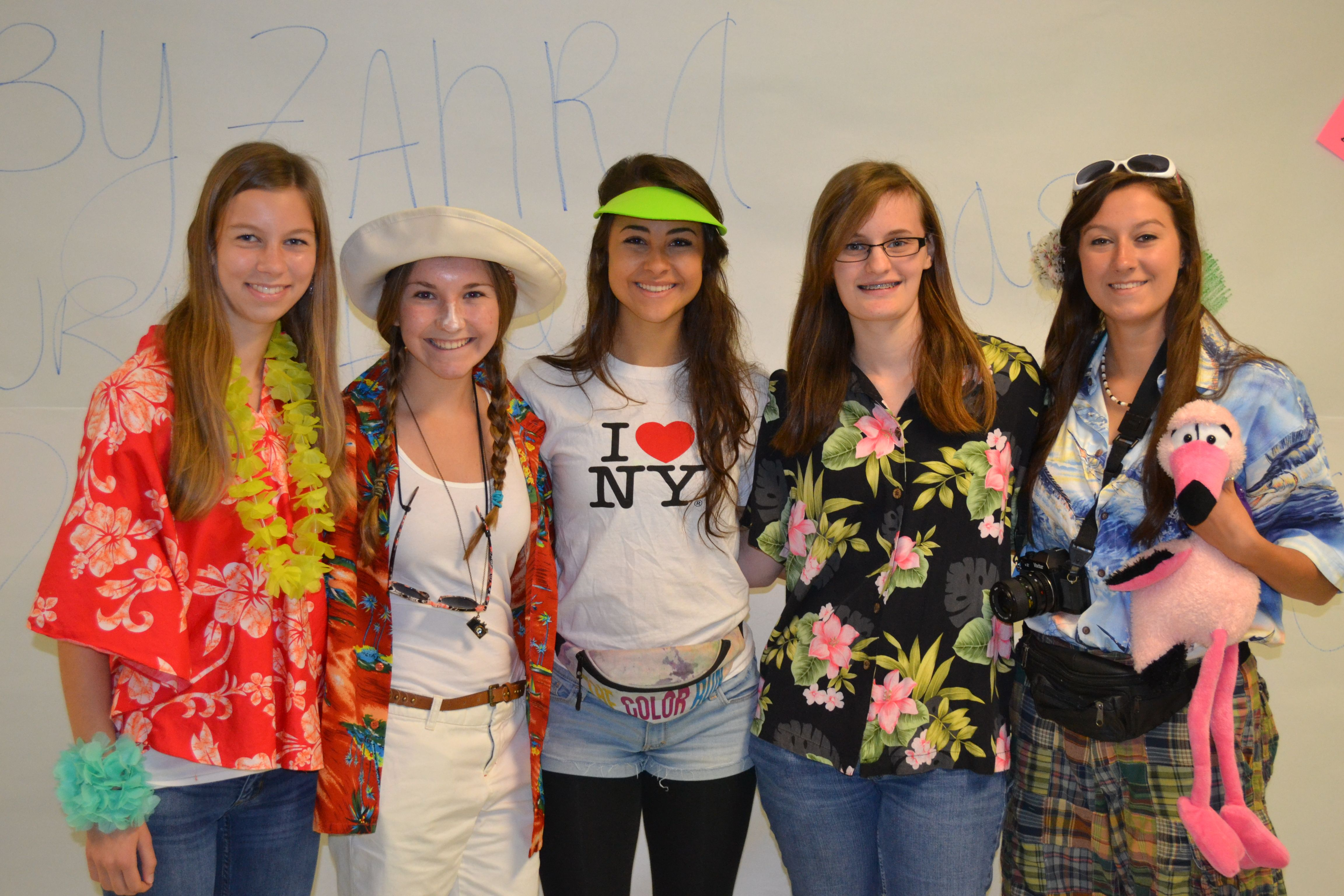 Tacky Tropical Tourist Day High School Spirit week
