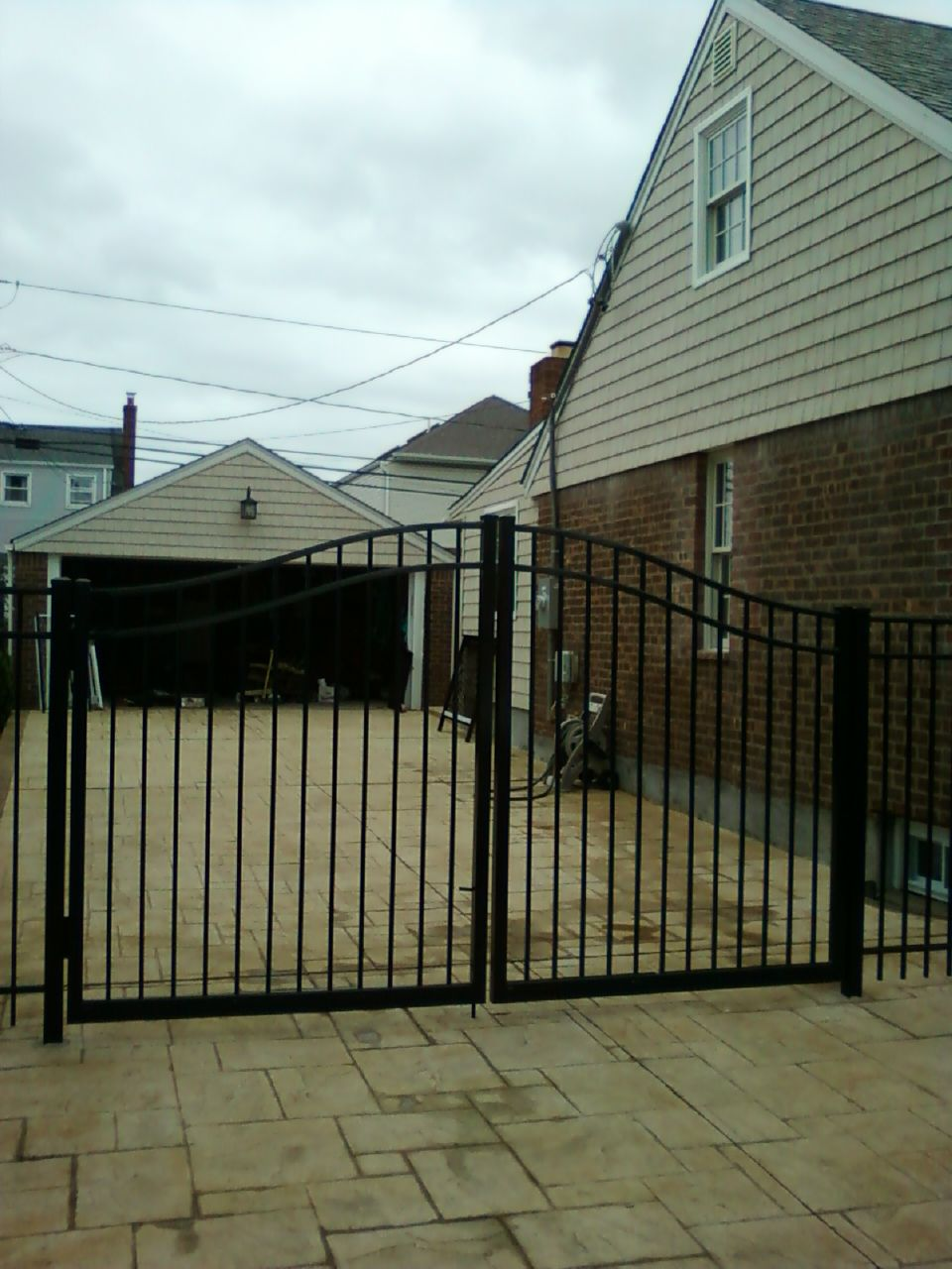 Best 60 Arched Aluminum Double Driveway Gates Installed In 640 x 480