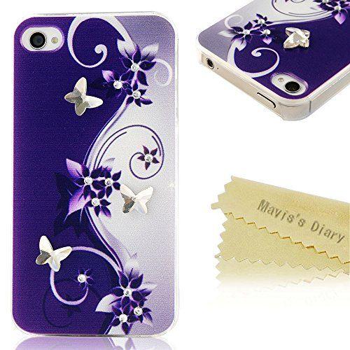 Mavis's Diary Coque iPhone 4/iPhone 4S PC Rigide Bling Strass ...