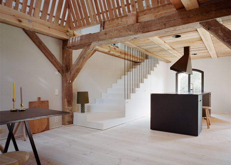 Holiday Home Created Inside An Old German Cowshed Barn Renovation Rustic Home Interiors Rustic House