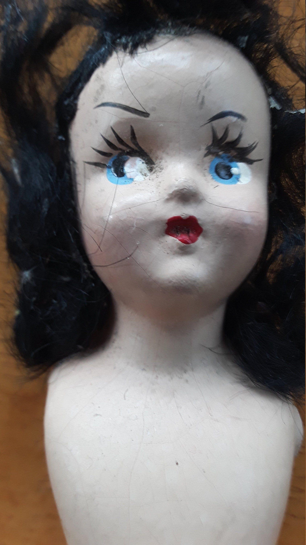 Creepy Antique Doll Bride DOll #bridedolls