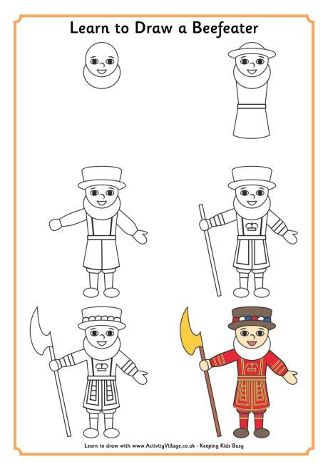 Learn To Draw A Beefeater