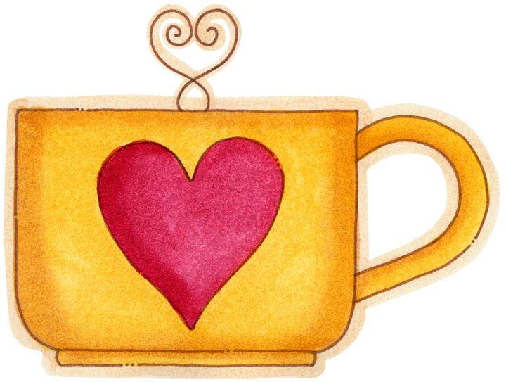 Tazas con chocolate caliente para imprimirImagenes y dibujos para
