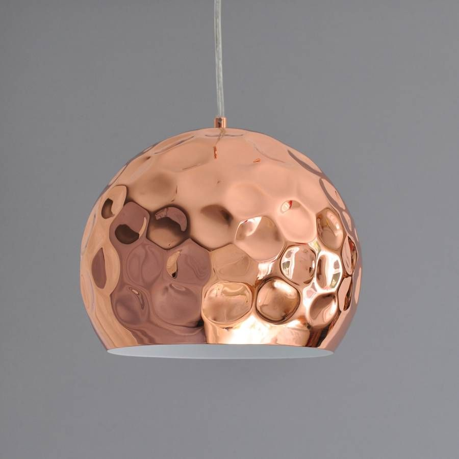 Amazing copper shade pendant lamp httplookmyhomes i adore copper in the house at the moment hammered copper pendant light audiocablefo