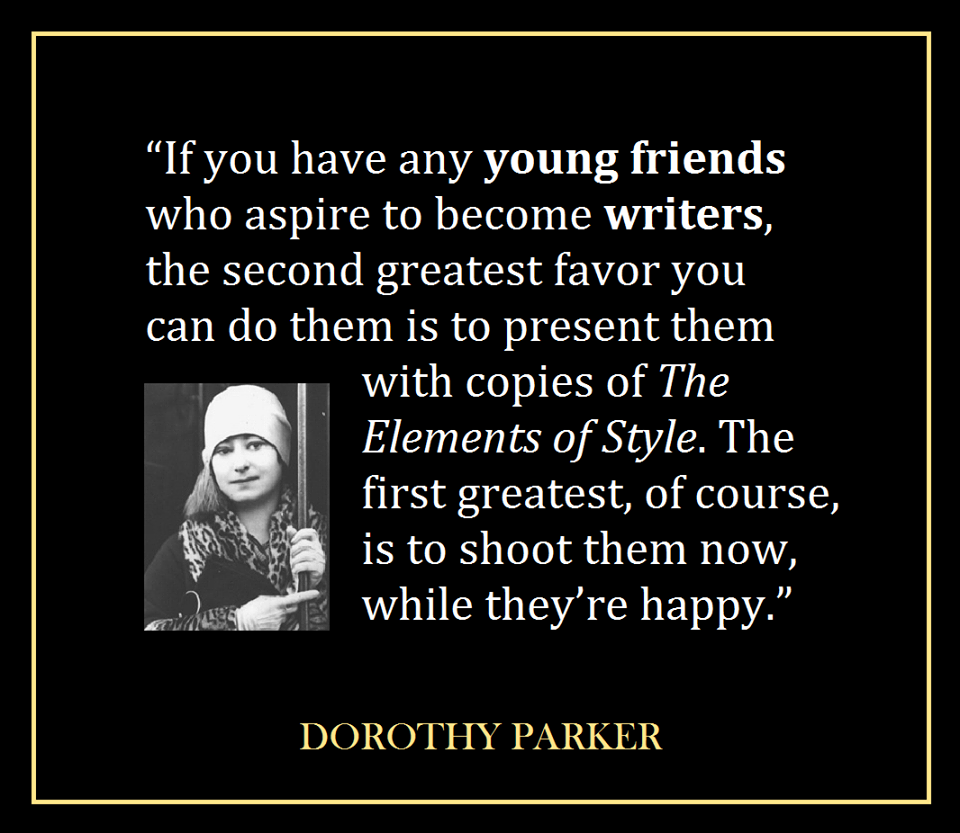 Writing my research paper dorothy parker's short stories