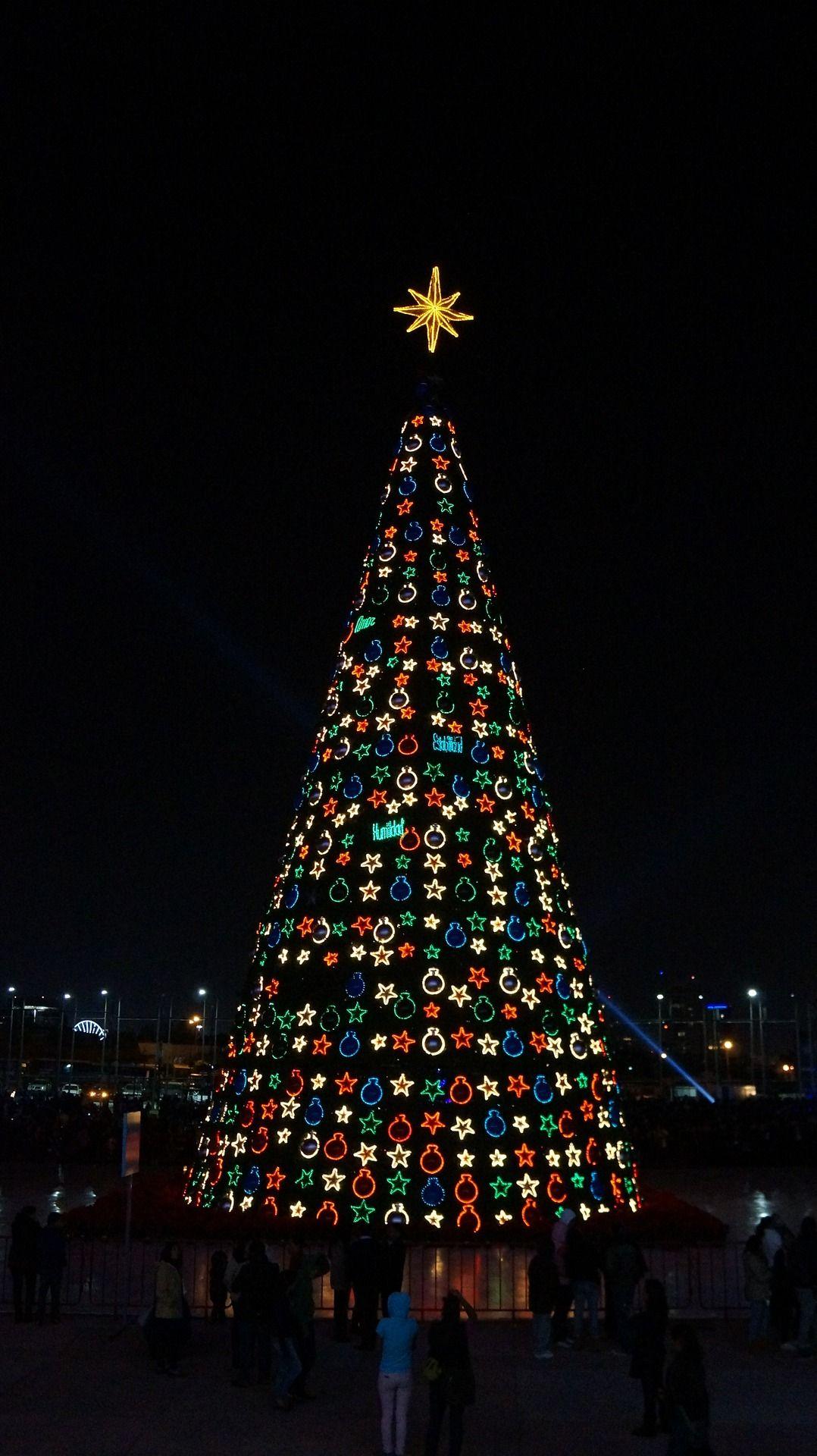 Hang ornaments?! Nah, we'll just arrange LEDs in the shape