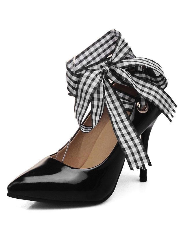 #Milanoo.com - #milanoo.com Black High Heels Black Pointed Toe Slip
