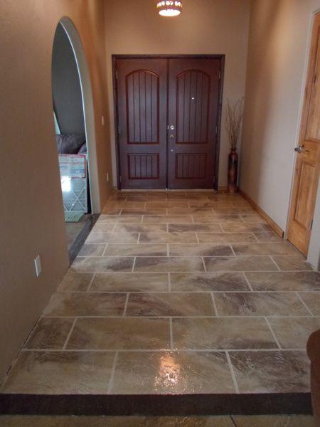 concrete overlay flooring tile finish