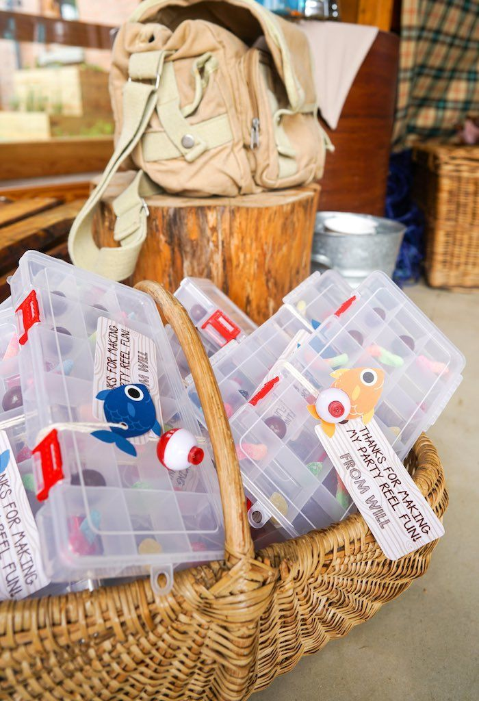 Williams gone fishing birthday party tackle box favors from a gone fishing birthday party via karas party ideas karaspartyideas 6 negle Images