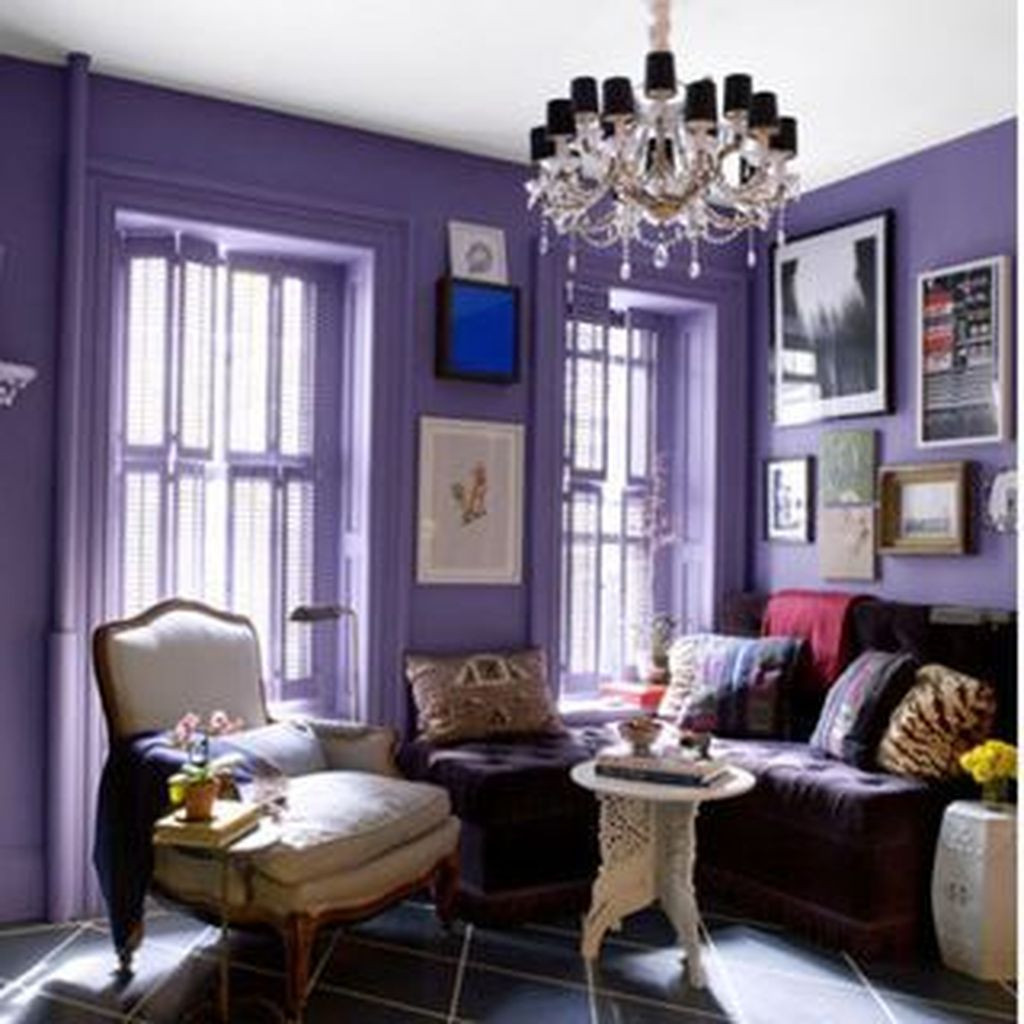 42 awesome living room green and purple interior color