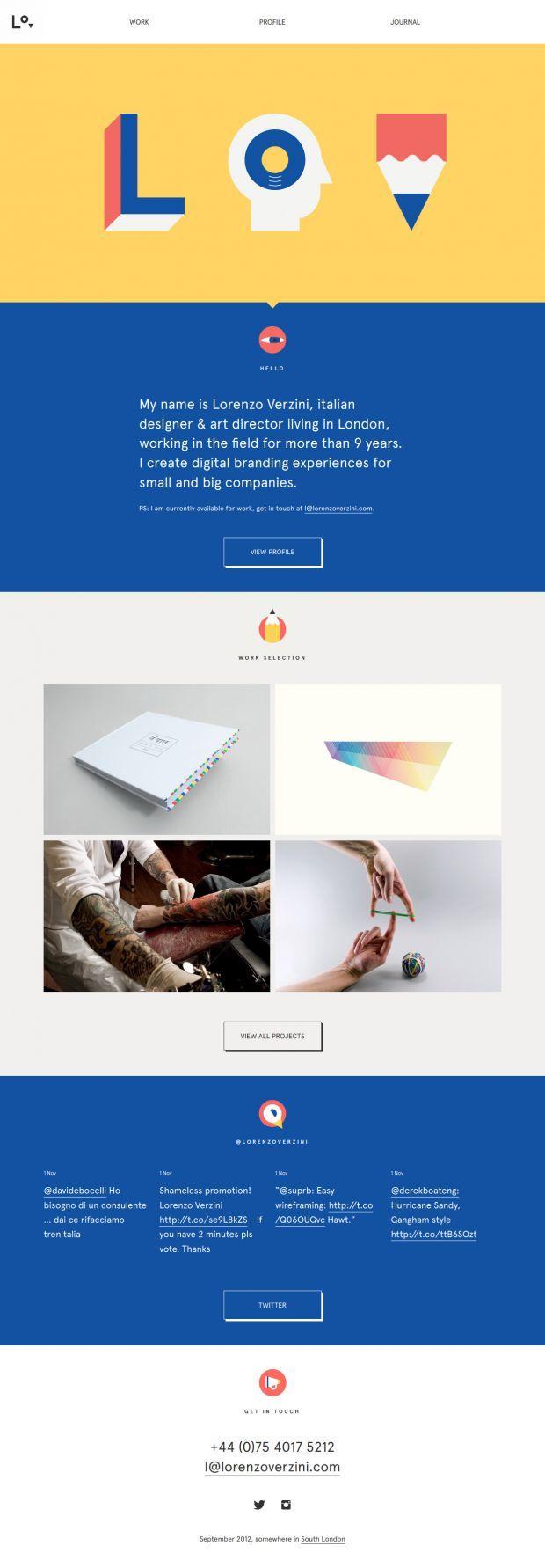Webdesign Illustrative Lorenzo Verzini Art Director And Designer Web Design Inspiration Unique Web Design Web Design