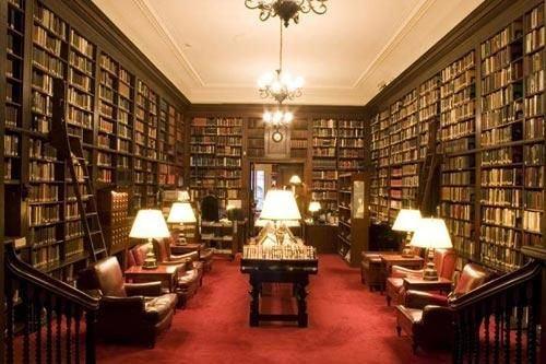 gordon reading room harvard club of new york libraries pinterest. Black Bedroom Furniture Sets. Home Design Ideas