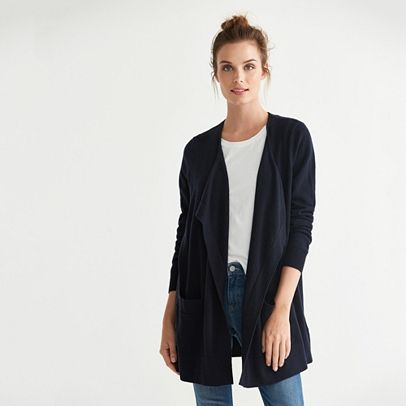 Wool Waterfall Cardigan | Style | Pinterest | The white company ...