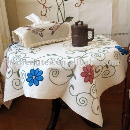 Mantel bordado a mano manteles identificaci n del producto - Manteles para mesa ...