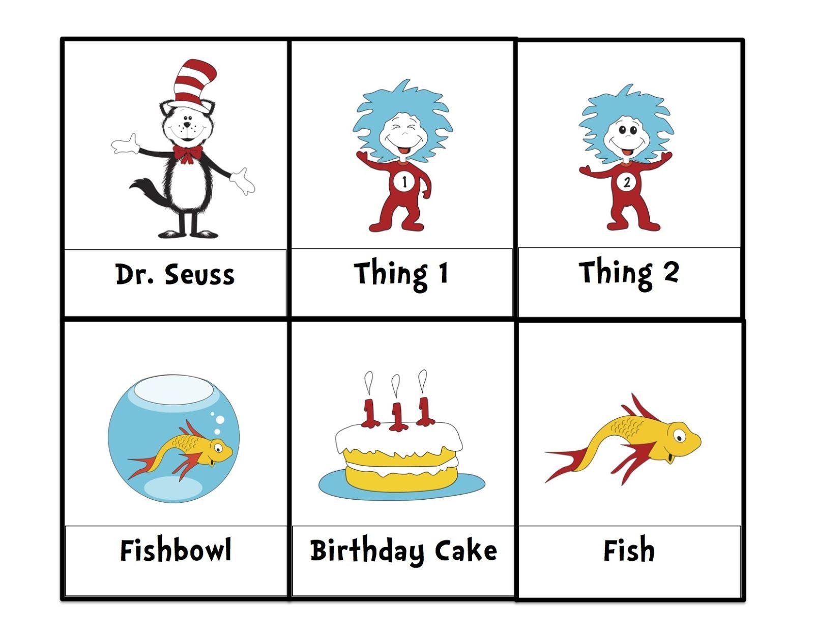 Preschool Printables Dr Seuss With Images