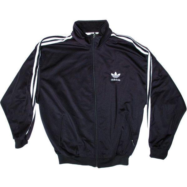 Vintage Adidas Black Track Suit Jacket MediumTrefoil 90s
