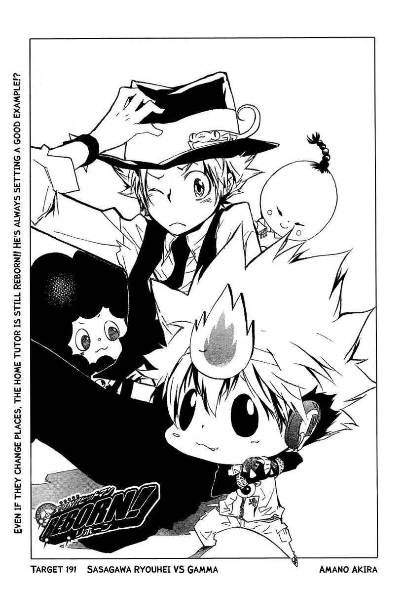 Read manga Katekyo Hitman Reborn! 191 online in high