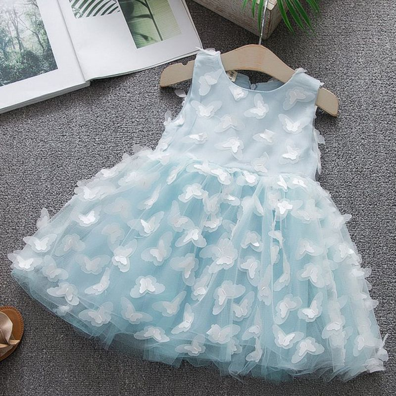 1517b9a1d6af4 Summer Kids Dresses For Girls Clothes Tutu Princess Butterfly Baby ...