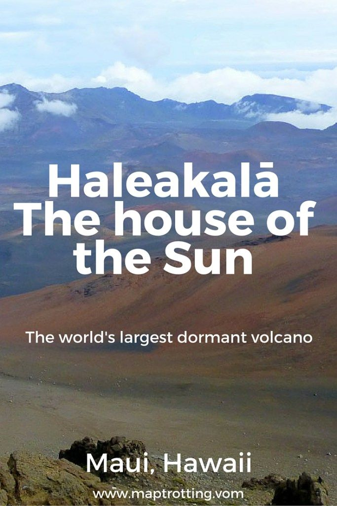 The world's largest dormant volcano Haleakalā, Maui, Hawaii