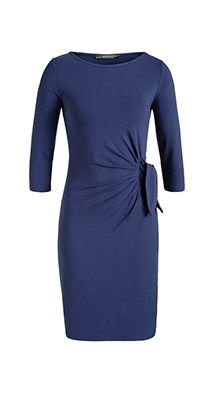 173d1fc5293da5 Esprit   Stretch jersey jurk met geknoopte drapering