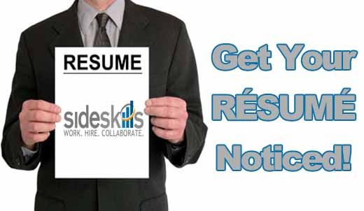 5 Resume Tips to Get You Noticed! sideskills Pinterest - 5 resume tips