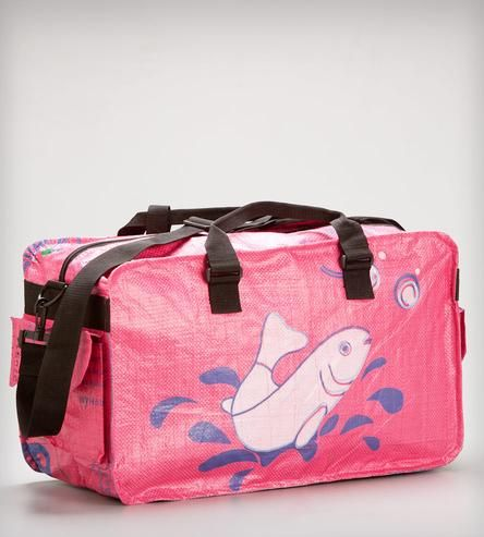 Upcycled Duffle Bag - Small = A gym bag for swim sessions!