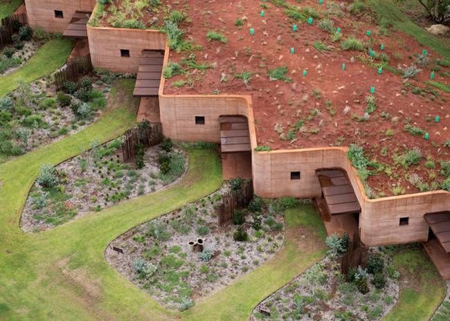 Rammed-earth Wall - Australian firm 'Luigi Rosselli Architects' recently designed a rammed-earth wall that provides housing for seasonal workers. In remote...
